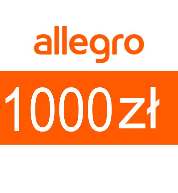 zdjęcie                      Karta podarunkowa Allegro o wartości  1000zł
