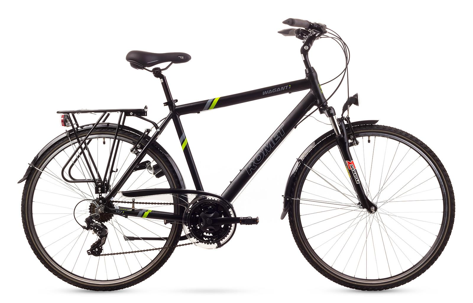 Rower ROMET  WAGANT 1  czarny z zielonym 19 M