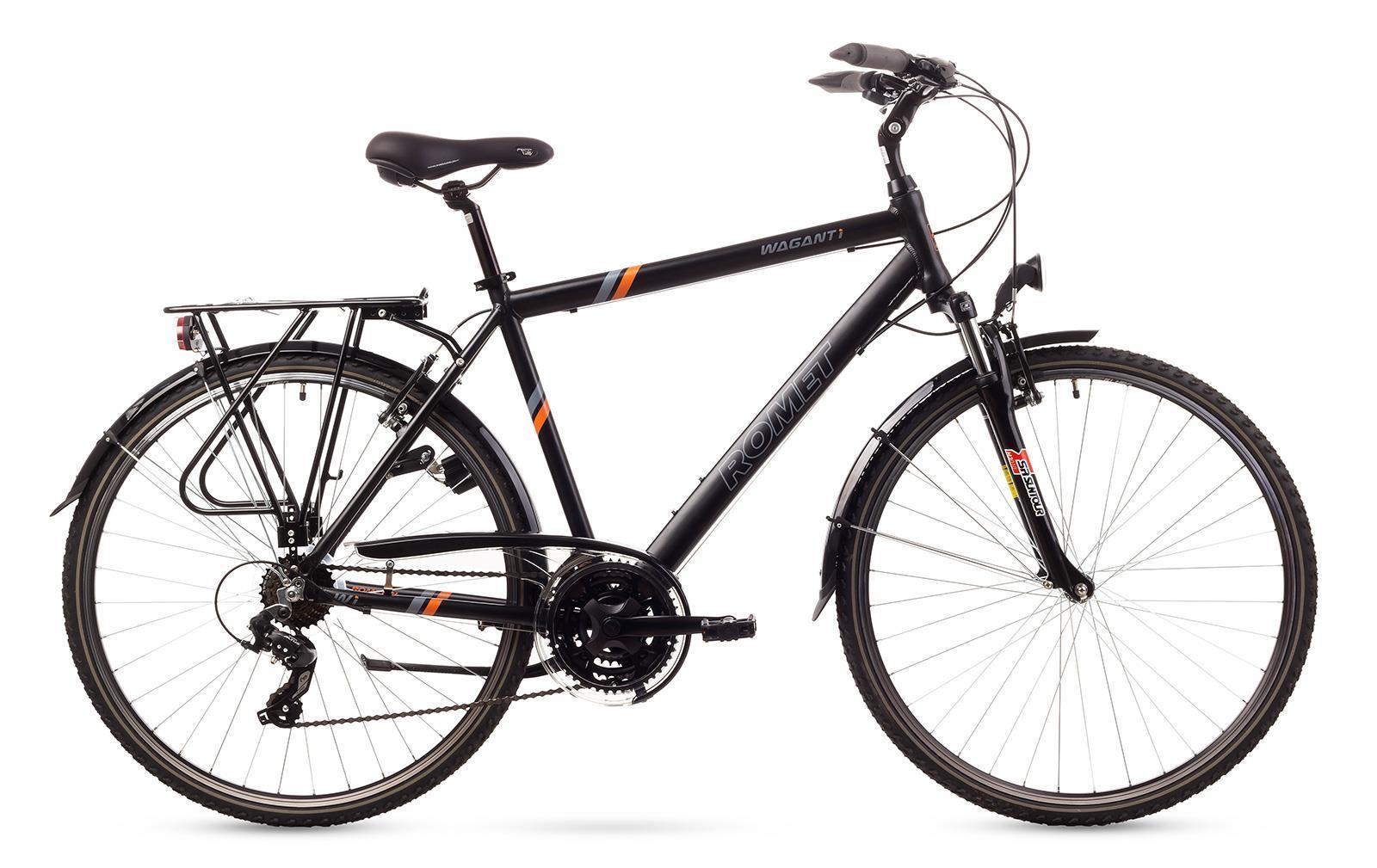 Rower ROMET  WAGANT 1  czarny z pomarańczowym 19 M
