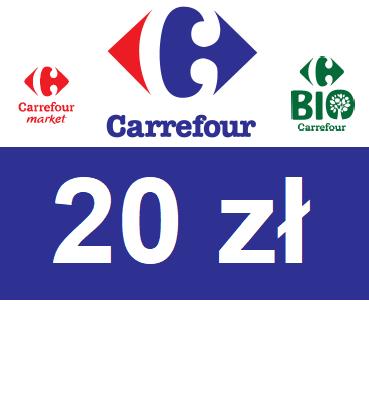 zdjęcie Elektroniczny BON Carrefour 20 PLN