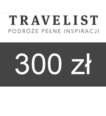zdjęcie                      Karta podarunkowa Travelist o wartości 300zł