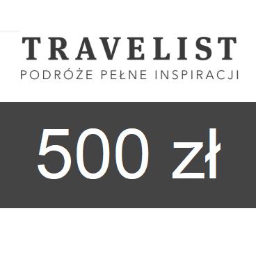 zdjęcie                      Karta podarunkowa Travelist o wartości 500zł