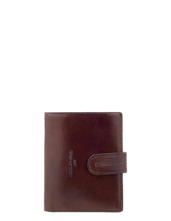 Cholewiński Portfel męski Platinium Collection W65, brązowy