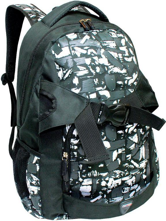 Plecak szkolny Grafitowo Biało Czarny