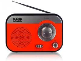 Radio ELTRA LAURA srebrno-pomarańczowy