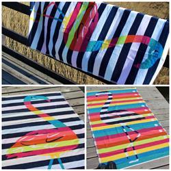 Ręcznik plażowy flaming MARAIS 100x170